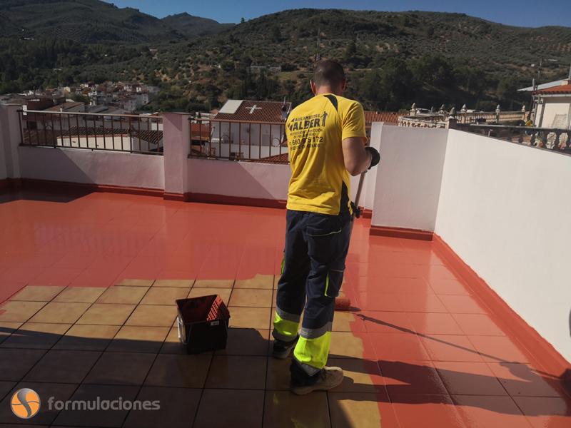 Impermeabilización de terraza con HIDROFORMA H2V0