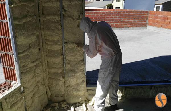 El poliuretano proyectado es el aislamiento térmico con menor conductividad